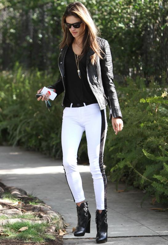 Alessandra Ambrosio in Hudson Jeans