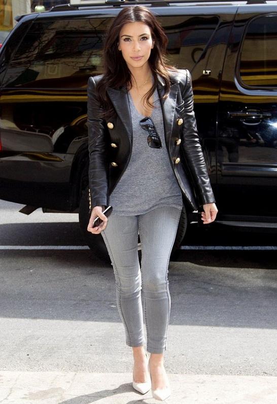 Kim Kardashian in Monrow